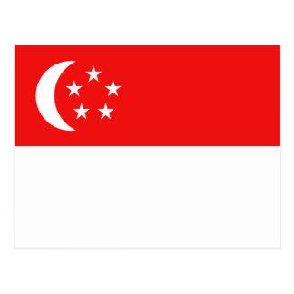 Singapur-Flaggen-Postkarte Postkarte