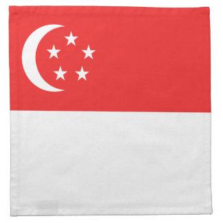 Singapur-Flaggen-Serviette Stoffserviette