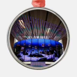 Singapur-Flughafen-sozial-Baum Silbernes Ornament