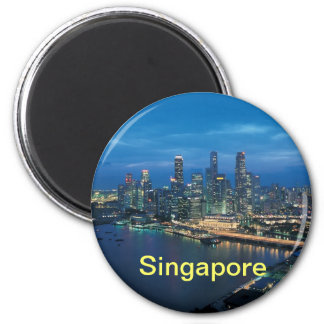Singapur-Magnet Runder Magnet 5,1 Cm