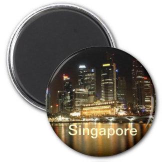 Singapur-Magnet Runder Magnet 5,7 Cm