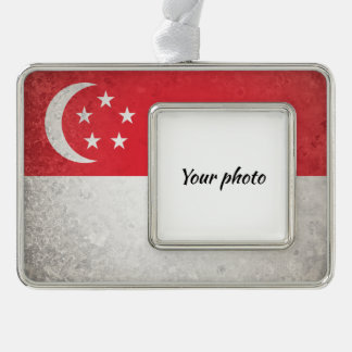 Singapur Rahmen-Ornament Silber