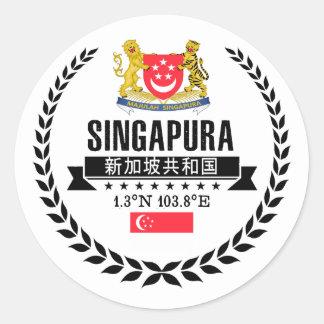 Singapur Runder Aufkleber