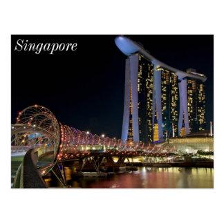 Singapur-Schneckenbrücke auf Postkarte