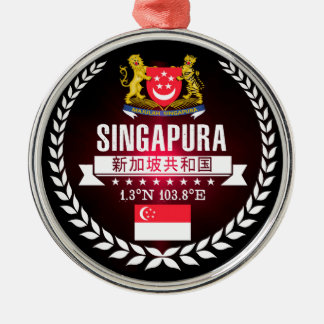 Singapur Silbernes Ornament