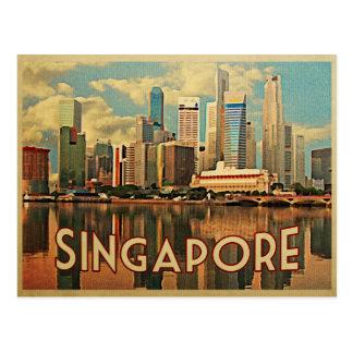 Singapur-Skyline Postkarte