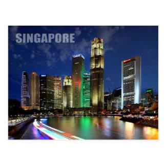 Singapur-Skyline von Elgin Brücke Postkarten