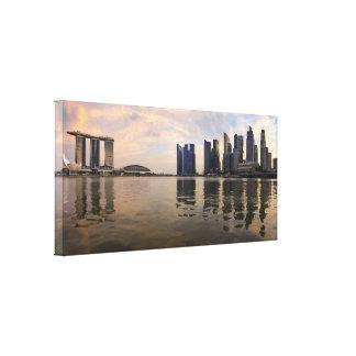 Singapur-Sonnenuntergang dehnte Leinwand-Druck aus Gespannte Galeriedrucke