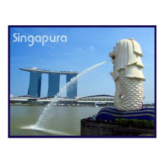 singapura Kasino merlion Postkarte