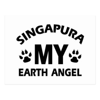 singapura Katzenentwurf Postkarte