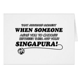 SINGAPURA Katzenentwürfe Karte