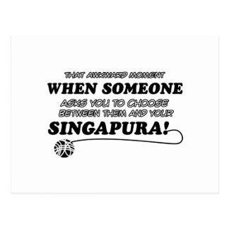 SINGAPURA Katzenentwürfe Postkarte
