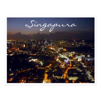 singapura Lichter Postkarte