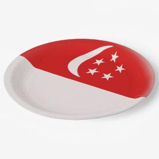 Singapurer-Flagge Singapurs Singapura Pappteller