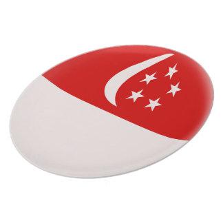 Singapurer-Flagge Singapurs Singapura Teller
