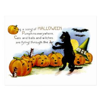 Singen Sie ein Lied von Halloween Postkarte
