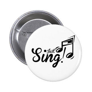 Singen Sie einfach Runder Button 5,7 Cm