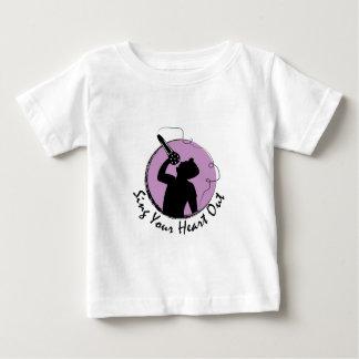Singen Sie Herz heraus Baby T-shirt