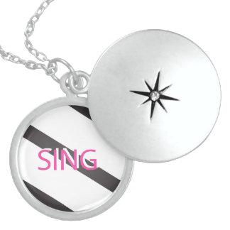 Singen Sie modisches Rosa Sterling Silberkette
