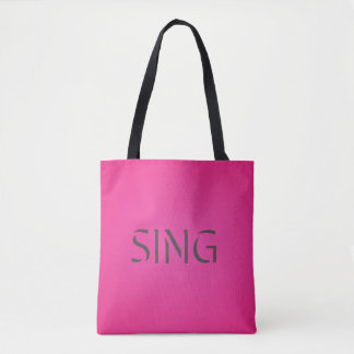 Singen Sie modisches Rosa Tasche