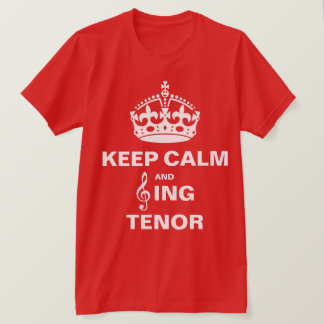 Singen Sie Tenor T-Shirt