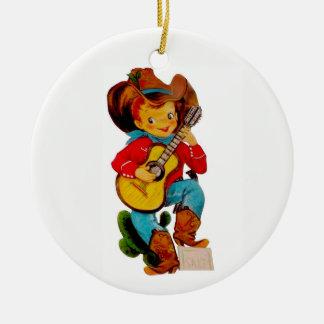 Singencowboy-Kind Keramik Ornament