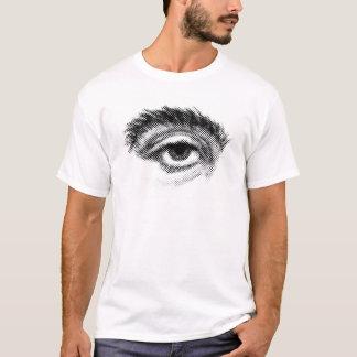 Single-Augen-Halbtonbild T-Shirt