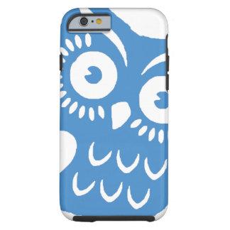 Single-Blau-Eule Tough iPhone 6 Hülle