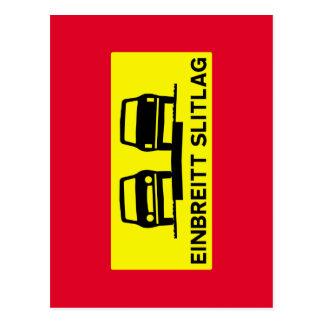 Single-Breite Oberfläche, Verkehrszeichen, Island Postkarte