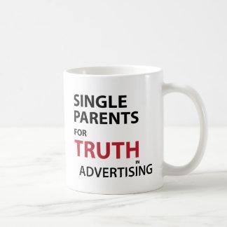 Single-Eltern für Wahrheit in der Werbung Kaffeetasse