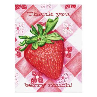 Single-Erdbeerkunst-Postkarte Postkarte