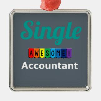 Single-fantastischer Buchhalter Quadratisches Silberfarbenes Ornament