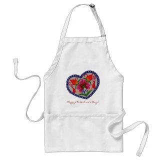 Single-Herz-glücklicher Valentinstag Schürze