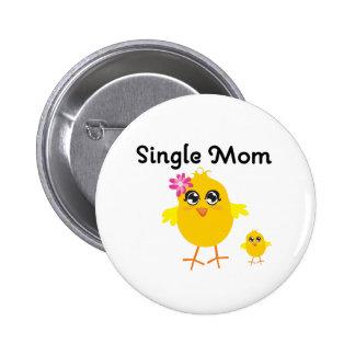 Single-Mamma Runder Button 5,7 Cm