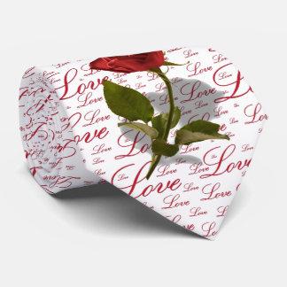 Single-Rosen-Foto - Valentine-Liebe-Typografie Krawatte
