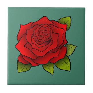 Single-Rote Rose Keramikfliese