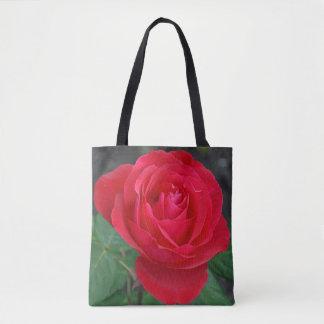 Single-Rote Rose Tasche