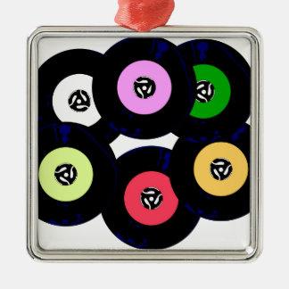 Single-Sammlung Quadratisches Silberfarbenes Ornament
