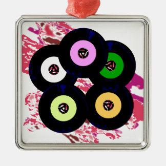 Single-Sammlungs-Jazz-Hintergrund Quadratisches Silberfarbenes Ornament