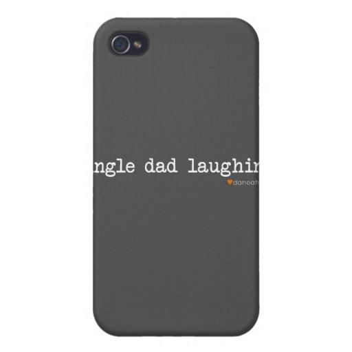 Single-Vati-Lachen -- Grauer Hintergrund iPhone 4 Hüllen