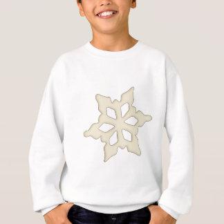 Single-Weiß-Schneeflocke Sweatshirt