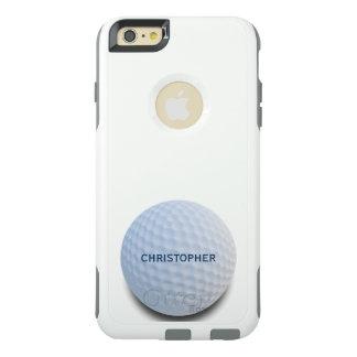 Single-weißer Golf-Ball personalisiert OtterBox iPhone 6/6s Plus Hülle