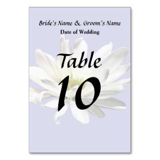 Single-weißes Gänseblümchen-Hochzeits-Produkte Karte