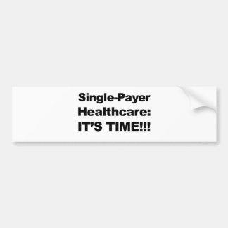 Single-Zahler-Gesundheitswesen - es ist Zeit! Autoaufkleber