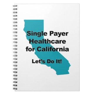 Single-Zahler-Gesundheitswesen für Kalifornien Spiral Notizblock