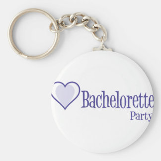 SingleHeart-BacheloretteParty-Ind Standard Runder Schlüsselanhänger