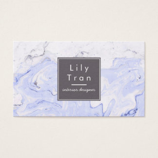 Singrün-Aquarell-Marmor-Visitenkarte Visitenkarte