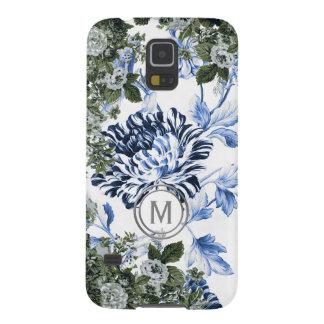 Singrün-blaues Blumengarten-Überfluss-Monogramm Samsung Galaxy S5 Hülle