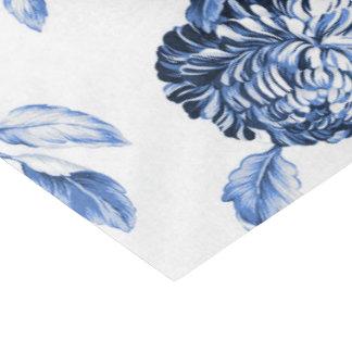 Singrün blaues Vintages BlumenToile No.2 Seidenpapier
