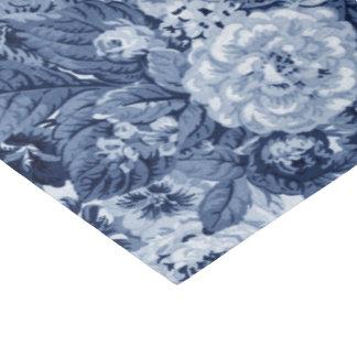 Singrün blaues Vintages BlumenToile No.3 Seidenpapier